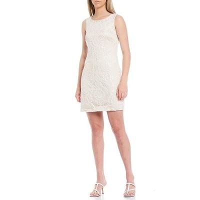 ヴィンスカムート レディース ワンピース トップス Sleeveless Sequin Beaded Shift Dress