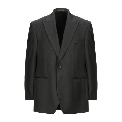 LUBIAM テーラードジャケット ブラック 54 スーパー100 ウール 100% テーラードジャケット