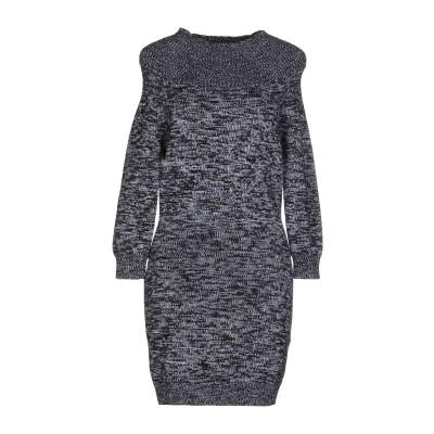 ディースクエアード DSQUARED2 ミニワンピース&ドレス 鉛色 L バージンウール 100% ミニワンピース&ドレス