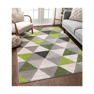 (アイソメトリー) Isometry ピンクモダン幾何三角形パターン 絨毯マット エリアラグ ソフト毛が抜けない