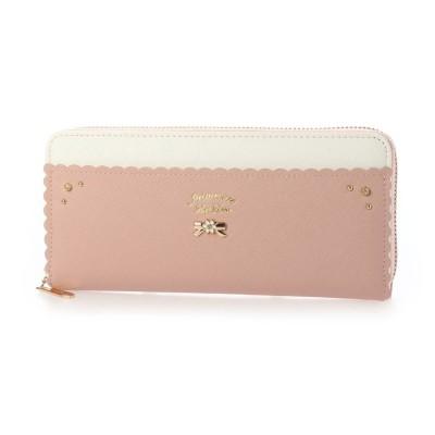 プリムヴェールリズリサ Primevere LIZ LISA アロマ ラウンドファスナー長財布 (ピンク)
