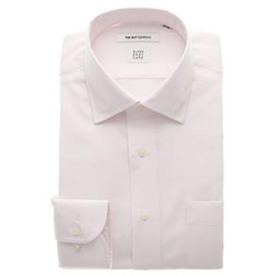 ▽【SUPER EASY CARE】ワイドカラードレスシャツ 織柄 〔EC・FIT〕
