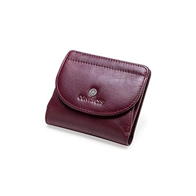 AngelFigure 二つ折り財布 レディース 本革 ボックス型 小銭入れポケット付き コインケース コンパクト 小型 軽量 薄型 大容量