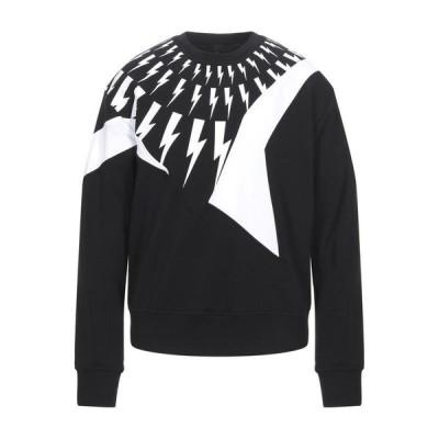 NEIL BARRETT スウェット  メンズファッション  ジャージ、スウェット  ジャージ、スウェットトップス ブラック