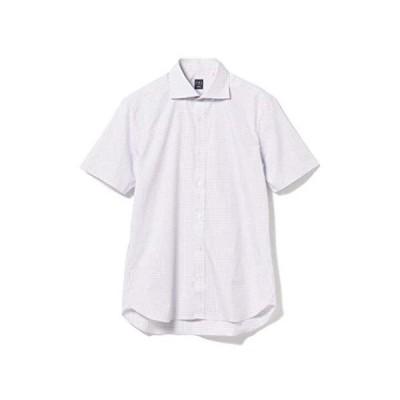 [ビームスエフ] シャツ グラフチェック カッタウェイカラーシャツ メンズ 21010089183 パープル / L6 S