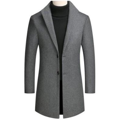 チェスターコート ジャケット メンズ 大きいサイズ メンズコート ロングコート アウター 無地  防寒コート 人気 おしゃれ カジュアル カッコイイ お兄系 定番