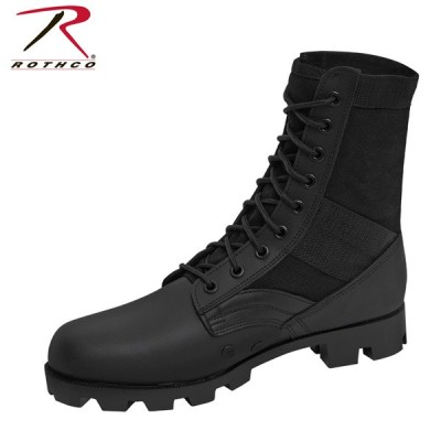 Rothco ロスコ ミリタリージャングルブーツ編み上げ黒ブラック軍物Military Jungle Boots 5081アウトドア
