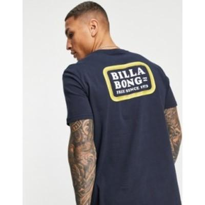 ビラボン メンズ シャツ トップス Billabong Walled t-shirt in navy Navy