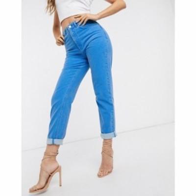 エイソス ASOS DESIGN レディース ジーンズ・デニム ボトムス・パンツ Farleigh high waist slim mom jeans in cyan blue アイスブルー