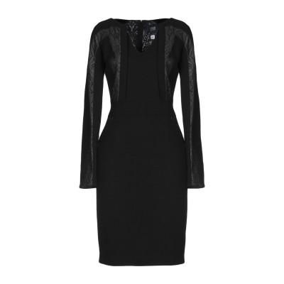 クラス ロベルト カヴァリ CAVALLI CLASS ミニワンピース&ドレス ブラック 42 レーヨン 70% / バージンウール 30% / ナ