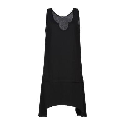 NEVER ENOUGH ミニワンピース&ドレス ブラック S コットン 100% ミニワンピース&ドレス