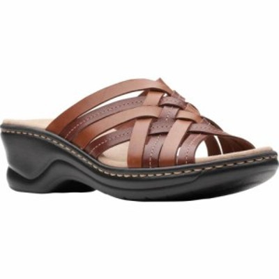 クラークス Clarks レディース サンダル・ミュール シューズ・靴 Lexi Selina Slide Mahogany Full Grain Leather
