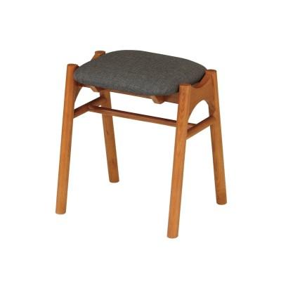 天然木のファブリックスツール(同色2脚セット) スツール, stool(ニッセン、nissen)