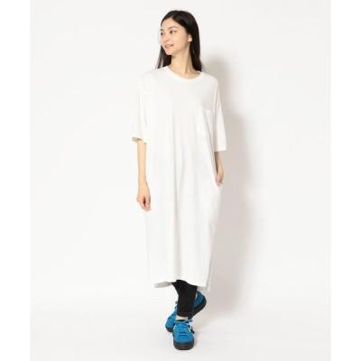 【ビーバー】【FUDGE 10月号掲載】MANASTASH/マナスタッシュ WS WIDE TEE DRESS