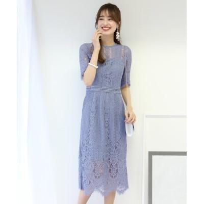 【ブルーイースト】 パネルレースIラインドレス レディース グレー S(00) BLUEEAST