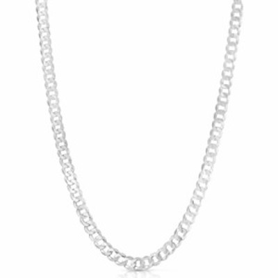 Men and Women 925 Sterling Silver Solid Flat Cuban Curb Link Chain Necklace 3.5MM - 9.5MM- 18 20 22 24 26 28 30 Inch Jewelry, Ma
