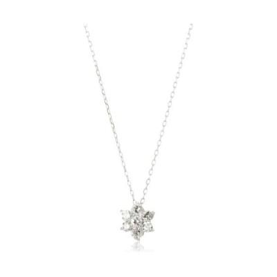 [ディーコレクション] ダイヤモンド 0.2ct ホワイトゴールド K18 ネックレス DTP5167WG (シルバー)