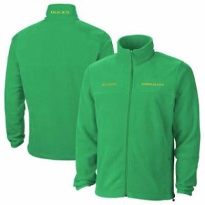 Columbia コロンビア スポーツ用品  Columbia Oregon Ducks Apple Green Flanker II Full-Zip Fleece Jacket