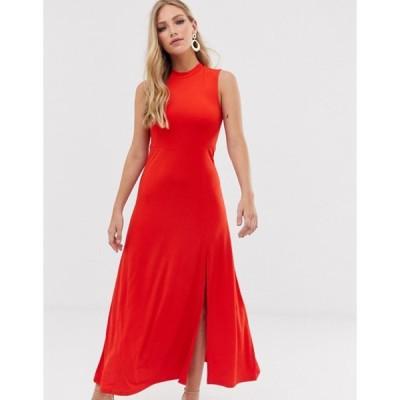 ワイエーエス レディース ワンピース トップス Y.A.S high neck maxi dress