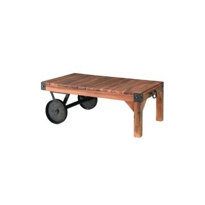 センターテーブル コーヒーテーブル ローテーブル リビングテーブル カフェテーブル 木製 おしゃれ 人気 トロリーテーブル TTF-117