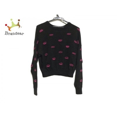 アリスオリビア 長袖セーター サイズM/M M レディース 美品 - 黒×ピンク クルーネック/ラメ 新着 20210117