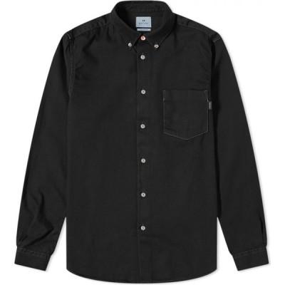 ポールスミス Paul Smith メンズ シャツ デニム トップス multi coloured stitch button down denim shirt Black