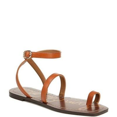 サムエデルマン レディース サンダル シューズ Abe Leather Toe Ring Square Toe Ankle Wrap Sandals