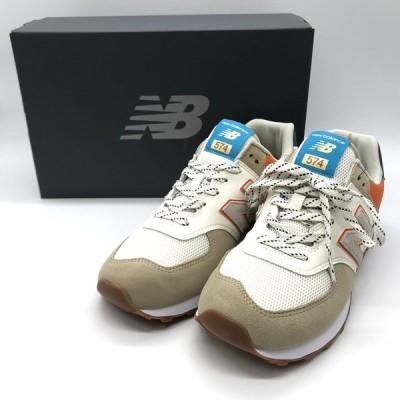 ニューバランス ML574NFT スニーカー シューズ 箱付き タグ 未使用 メンズ 27cm ベージュ NEW BALANCE 靴 B3844◆