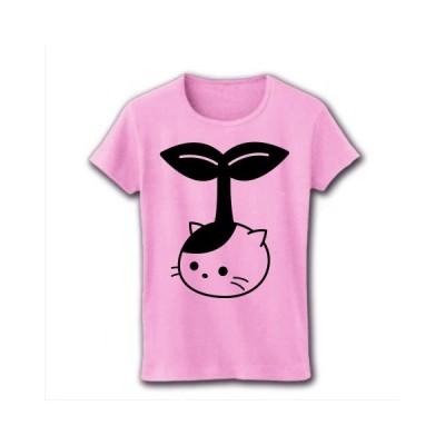 野菜ねこ リブクルーネックTシャツ(ライトピンク)