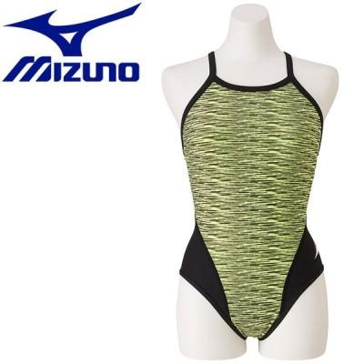 送料無料! ミズノ 水泳 エクサースーツ ミディアムカット 練習水着 レディース N2MA977531 ゆうパケット配送