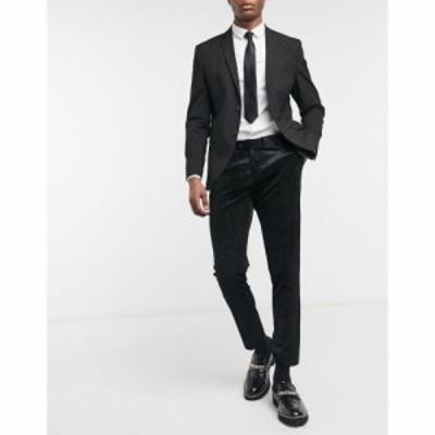 ボロンガロトレバー Bolongaro Trevor メンズ スラックス ボトムス・パンツ Cord Skinny Suit Trousers With Side Stripe ブラック