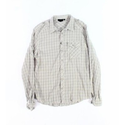 Rogue ローグ ファッション アウター Rogue NEW Gray Mens Size Large L Button Down Plaid One Pocket Shirt