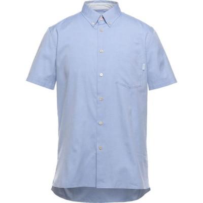 ポールスミス PS PAUL SMITH メンズ シャツ トップス solid color shirt Azure