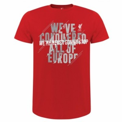 【LIV01】【SALE50%OFF】【国内未発売】赤リバプール 公式グッズ NEVER GONNA STOP Tシャツ レッド【サッカー/Liverpool/プレミアリーグ