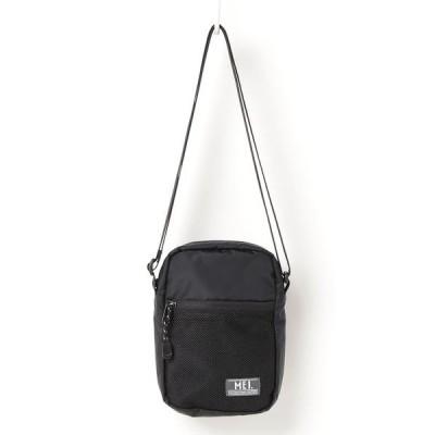 ショルダーバッグ バッグ 【MEI】ワンポイントロゴ メッシュポケット ミニショルダーバッグ