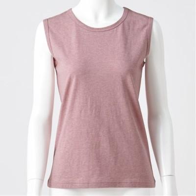型崩れしにくいSZTシャツ スリーブレス/クラウディピンク/LL