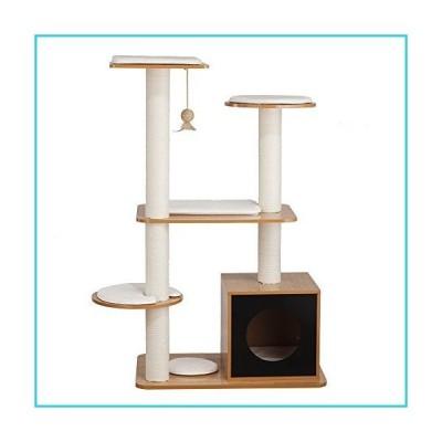 Ethan Pets Tigger Post Tower Box, Natural Black【並行輸入品】