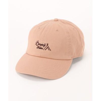 【ダブルネーム】 NEW HATTAN刺繍CAP(テント) レディース オレンジ FREE DOUBLE NAME