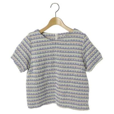 シャツ ブラウス 総柄半袖ブラウス
