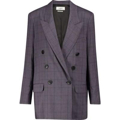 イザベル マラン Isabel Marant, Etoile レディース スーツ・ジャケット アウター Leaganea checked linen-blend blazer Faded Night