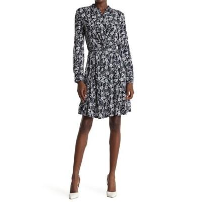 トミー ヒルフィガー レディース ワンピース トップス Floral Twist Front Shirt Dress SKYCAP CMB
