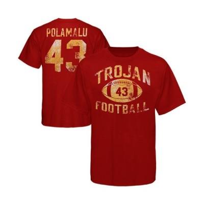 カレッジ NCAA USA アメリカ Troy Polamalu USC Trojans レジェンドary Practice Tシャツ Cardinal