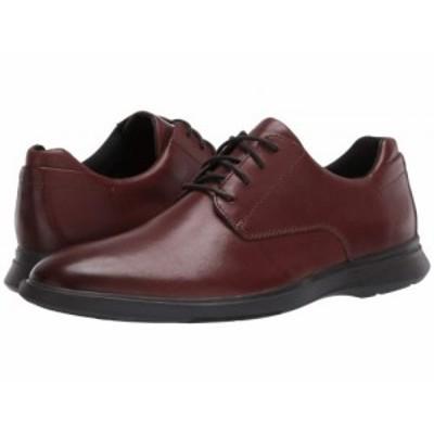 Clarks クラークス メンズ 男性用 シューズ 靴 オックスフォード 紳士靴 通勤靴 Un Lipari Park Mahogany Leather【送料無料】