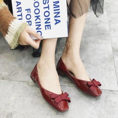 パンプス バブーシュ レディース スクエアトゥ フラット 大きいサイズ バレエシューズ 歩きやすい 疲れにくい バレエパンプス 結婚式 痛くない カジュアル