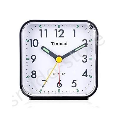 新品未使用!!Tinload Small Battery Operated Analog Alarm Clock Silent Non Ticking, Ascending Beep Sounds, Snooze,Light Functions, Easy S