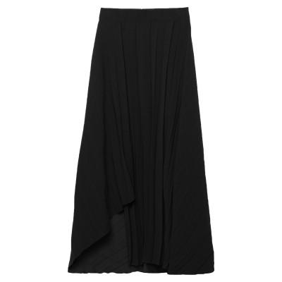 MARIELLA ROSATI ひざ丈スカート ブラック 44 ポリエステル 100% ひざ丈スカート