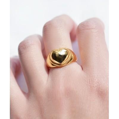 指輪 F&D : メタルハートオープンリング