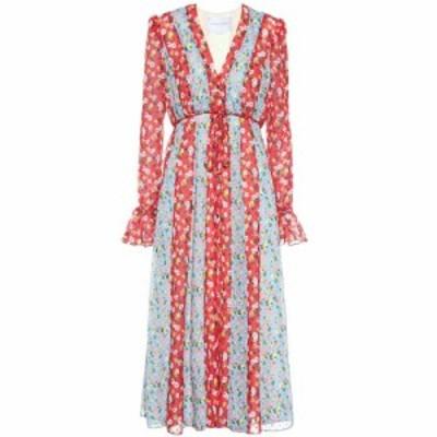 キャロリーナ ヘレラ Carolina Herrera レディース ワンピース ワンピース・ドレス Floral crepe midi dress July Sky Multi