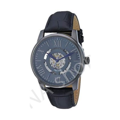 Invicta Men's Objet D Art Stainless Steel Automatic-self-Wind Watch with Leather Strap, Black, 21 (Model: 22602)(並行輸入品)