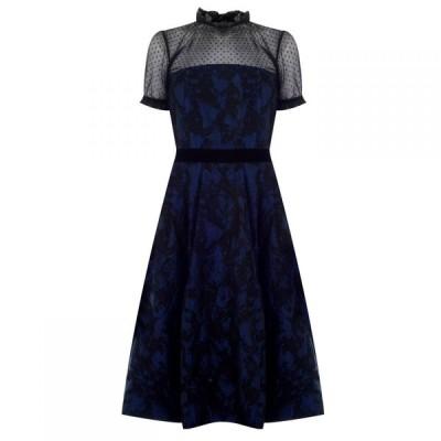 パーセヴェランス ロンドン Perseverance レディース ワンピース ワンピース・ドレス Two tone Brocade Dress Navy